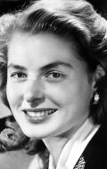 Actress, Producer Ingrid Bergman, filmography.