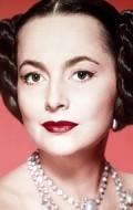 Actress Olivia De Havilland, filmography.